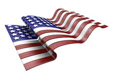 American flag. 3D render of the American flag Royalty Free Stock Images