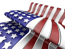American flag. 3D render of the American flag Royalty Free Stock Photo