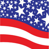 American Flag. Vector illustration of the american flag Royalty Free Stock Photos