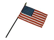 American flag. Small American flag on white background royalty free stock images