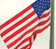 American Flag. Flag of the United States of America flying in the breeze Royalty Free Stock Photos