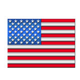 American Flag. Stylized graphic image of the American Flag Royalty Free Stock Images