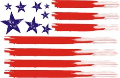 American flag. The flag is the symbol of American graphic design vector illustration