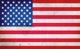 American flag. On a warn background Royalty Free Stock Image