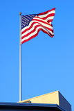 American flag. On the roof Stock Photo