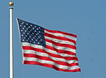 American Flag. USA Flag Flying in the Breeze Stock Image