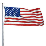 American Flag. On white background (clipping path Royalty Free Stock Photography