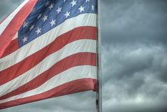 American Flag, 2008. U.S.A. Flag against the stormy weather Royalty Free Stock Photography