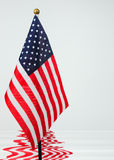 American Flag. An American flag in a pool of water Stock Image