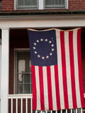 American flag. Downtown of Linglestown, Pennsylvania during 4th of July Stock Photography