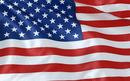 American flag. Wind rippling American flag close up Stock Image