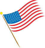 American Flag. On a white background with 13 stars Royalty Free Stock Image