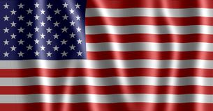 American flag. Waving flag of united states Stock Image