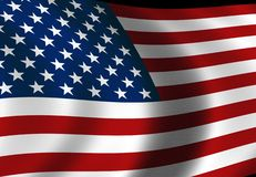 American Flag. Created in photoshop cs2 this American flag is huge at 300dpi. Flag is textured as well Stock Images
