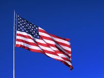 American Flag. The American flag - Beauty shot Royalty Free Stock Photos