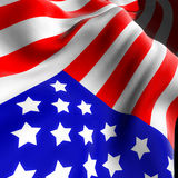 American flag. 3d illustration of an american flag Stock Photo