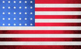 American Flag. Grungy American flag with deep reds and blues Royalty Free Stock Photography