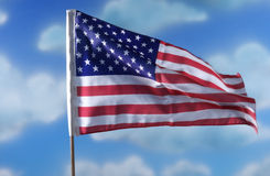 American flag. USA flag Stock Image
