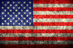 American flag. Patriotic grunge textured American flag background stock illustration