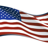 American flag. Banner, vector illustration Royalty Free Stock Photos