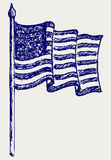 American Flag. Doodle style. Vector Royalty Free Stock Photo