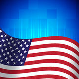 American flag. Background with american flag. This is file of EPS10 format Stock Photo
