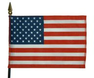 American flag 3. American flag on white background stock photos