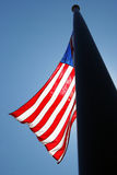 American Flag. On Tall Flag Pole stock photos