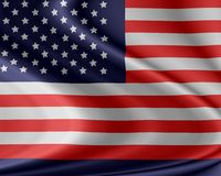 American flag. In the wind Royalty Free Stock Photos