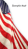 American flag. The american flag on background Stock Images