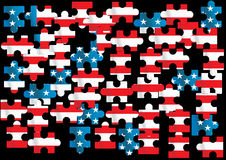 American flag. Vector american flag - vector illustration Royalty Free Stock Photography