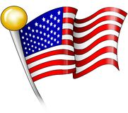 American Flag. This is a bold illustration of an american flag designed to grab the attention of anyone who looks at it royalty free illustration