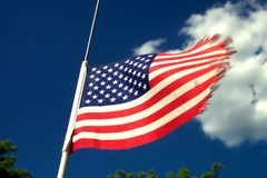 American Flag. Close up of American flag Royalty Free Stock Images