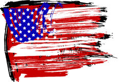American flag. This image is a vector illustration and can be scaled to any size without loss of resolution. This image will download as a .eps file. You will Stock Image