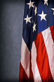 American Flag. A small portion of an American Flag. Selective focus on just a few stars royalty free stock image