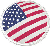 American flag. Icon fourth of july holiday Stock Photography
