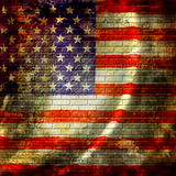 American flag. Waving in the wind Stock Image