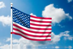 American flag. On the nature background Stock Image
