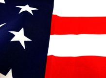 American Flag. Patriotic, American Flag, Stars & Stripes, Red, White & Blue Stock Photo