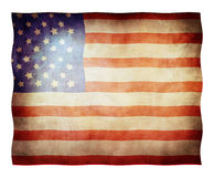 American flag. Waving in the wind Royalty Free Stock Photos