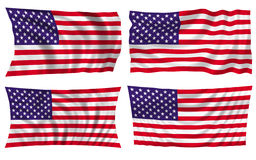 American flag. 4 style Royalty Free Stock Images