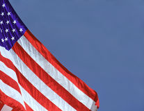 American Flag. On blue background with copy area for text Stock Image
