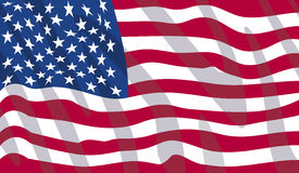 American flag. Waving flag of United States of America in vector format Royalty Free Stock Photos