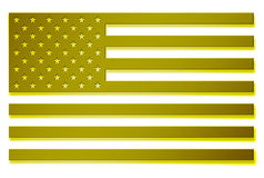 AMERICAN FLAG. National flag of the United States of America stars Royalty Free Stock Photos