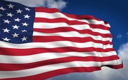 American flag. National American flag. Patriotism scene Stock Photo