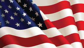 American Flag. Vector color Illustration stock illustration