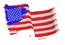 American flag. Painted american flag illustration design Royalty Free Stock Photos