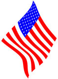 american flag απεικόνιση αποθεμάτων