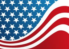American flag. Stylish american flag with gradients Royalty Free Stock Photos