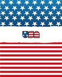 American flag. Stylish american flag with gradients Royalty Free Stock Images